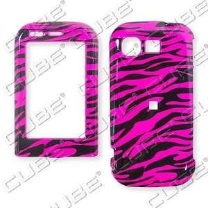 Dark Hot Pink Zebra Print Design Snap on Faceplate Case