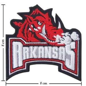 NCAA Arkansas Razorbacks Primary Logo Iron On Patch