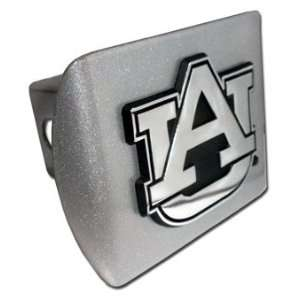 Auburn Univ. (AU) Brushed Chrome Hitch Cover Automotive