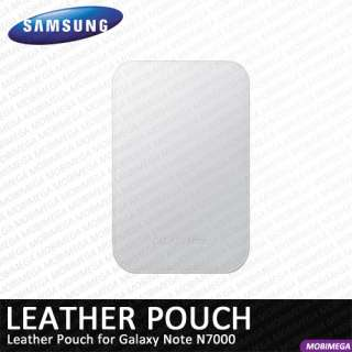Genuine Samsung EFC 1E1LWECSTD Leather Pouch Case Cover Galaxy Note
