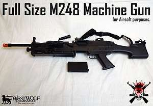 Military M248 Airsoft Machine Gun & Bipod    Rifle/Prop + Many