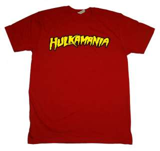 Hulkamania Hulk Hogan Pro Wrestling WWF Retro Red T Shirt Tee