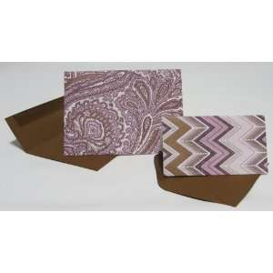 Elum Paisley Batik Letterpress Note Cards/Gift Cards Twin Pack (6 of