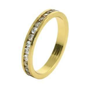 Yellow Gold Plated Eternity Band ( Sizes 5   10 )   Size 7 Jewelry