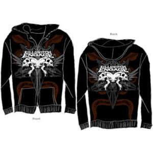 KILLSWITCH ENGAGE SKULL ZIP HOODIE M L XL 2XL