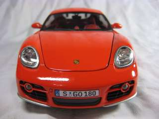 Porsche Cayman S red Cararama Diecast Car Model 124 1/24