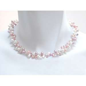 Pink Freshwater Pearl Sterling Spiral Necklace Erica Zap Jewelry