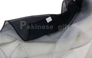 Black And White Gradient Oblong Chiffon Silk Polyester Scarf
