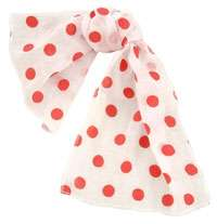 50s Pink Polka Dot Scarf   Fifties Costume Accessories