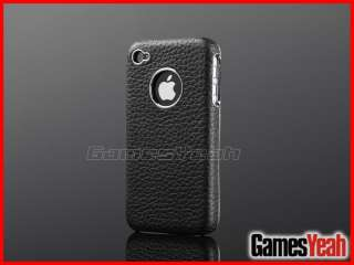 Genuine Leather Case Cover For AT&T Verizon Sprint iPhone 4 4S 4G