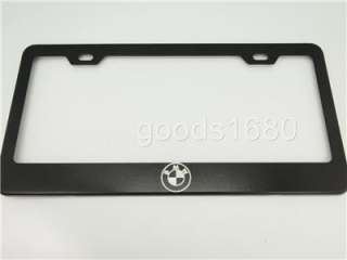 Black Chrome Stainless Steel License Plate Frame Holder FB^