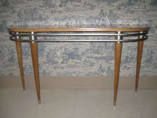 Ethan Allen Radius Sofa Console Table 20th Century Industrial Design