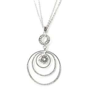 Perfect Gift   High Quality Glistering Circular Pendant with Silver