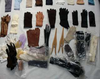 Lot of 60 pair of gloves hand display gloves stretcher