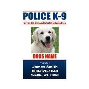 POLICE K9 ID Badge   1 Dogs Custom ID Badge   Design#6