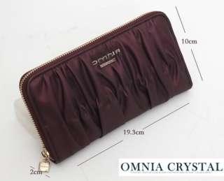 Womens Genuine Leather Long Zipper Wallet Evening Bag