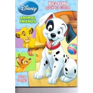 Disney Animal Friends Big Fun Book to Color ~ Play Date