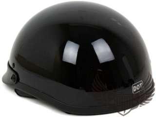 Gloss Black PGR Motorcycle Half Helmet Harley XXL