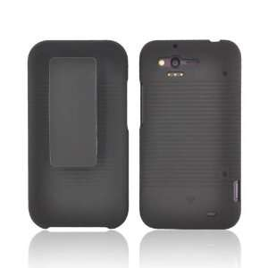 For HTC Rhyme Black Hard Rubberized Plastic Shell Case