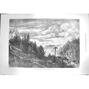 1871 Great Forest Fire America Fox River Trees Fine Art