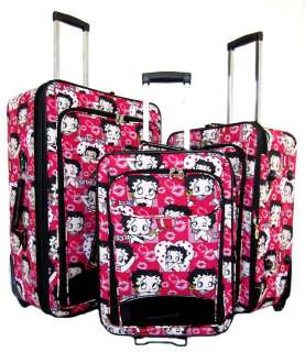 Piece Luggage Set Travel Bag Rolling Wheel CarryOn Upright Red Betty