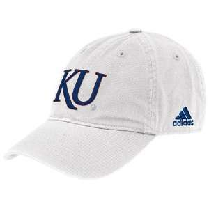 adidas Kansas Jayhawks White Basic Logo Slouch Hat  Sports