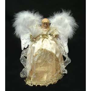 Gold Animated Fiber Optic Angel Christmas Tree Topper: Home & Kitchen