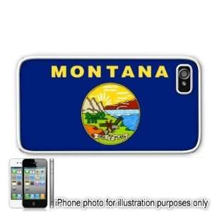 Montana State Flag Apple Iphone 4 4s Case Cover White