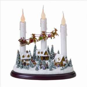 10 Battery Operated Christmas Candle   Santa & Village