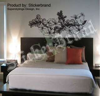 Vinyl Wall Decal Sticker Flower Floral Pattern #346