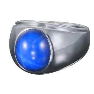 Mens Navy Star David Ring Jewelry