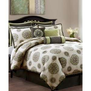 Vida By Eva Mendes Bedding, Stella Medallion 9 Piece Queen