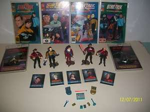 ACTION FIGURES, COMIC BOOKS, TRADING CARDS, TALKING BADGE,TNG