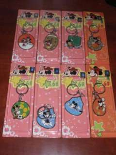 Lot of 8 Diff Disney Mickey Minnie Mouse New Key Chains