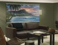 Ocean Waves Palm Trees on Beach Diamond Sunrise Mountain View Wall