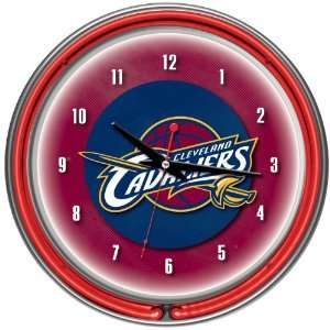 NBA Chrome Double Ring Neon Clock   Game Room Products Neon Clocks NBA