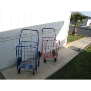 Extra Large Heavy duty Shopping Grocery Laundry Folding Cart Storage