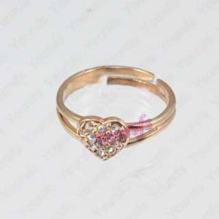 18K Gold Plated Swarovski Crystal Heart Love Ring