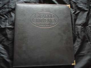 THIS IS OF HIGH QUALITY REAL LEATHER CURRENCY PORTFOLIO ALBUM