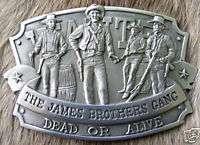 Vintage Jesse James Gang Western Outlaw Belt Buckle