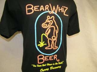 vtg 80s BEAR WHIZ BEER t shirt OURAY BREWERY, MINT L