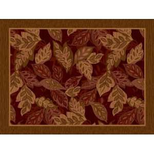 Accents 2 by 5 Nylon Full Border Mat, Foliage Bordeaux