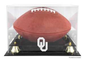 OKLAHOMA SOONERS FOOTBALL DISPLAY CASE HOLDER OU