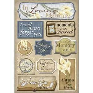 In Memory: In Loving Memory Cardstock Sticker: Arts