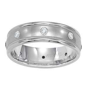 ARTCARVED PRICELESS Mens 14k White Gold, Diamond Wedding