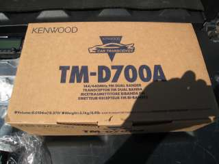 Kenwood TM D700A APRS Dual Band Mobile Radio 2/440 VS 3