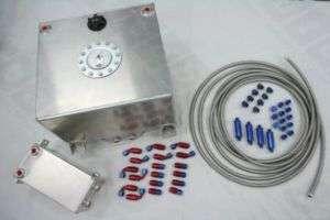 Fuel Surge Tank Aluminum 40 + 4 Litre Swirl Pot System