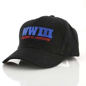 III Cap, Embroidered Tyranny vs. Freedom, Black
