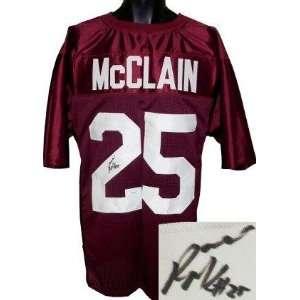 Rolando McClain signed Alabama Crimson Tide Maroon Custom
