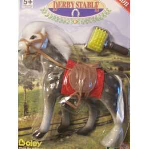 Horse with Comb ~ Gray and White with White Mane Boley Toys & Games